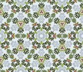 Seamless Background With Floral Symmetrical Elements