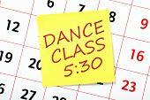 Dance Class Reminder