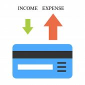 Low income and high expense vector