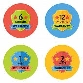 Warranty Flat Circle Icons Set 3