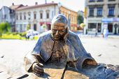 Sculpture of Pope John Paul II in the city center of Wadowice
