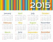 Abstract colored calendar 2015 year.