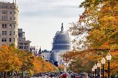 Us Capitol South Side Construction Pennsylvania Avenue Autumn Washington Dc