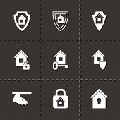 Vector home security icon set