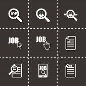 Vector job search icon set