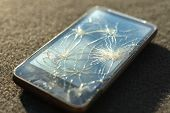 Broken glass of smart phone
