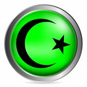 Star And Crescent Button