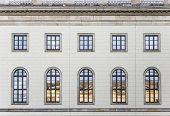 stock photo of mater  - historic facade of Humboldt university in Berlin from 1810  - JPG