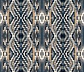 stock photo of pillowcase  - Geometric pattern on the fabric,   seamless pattern, computer processing - JPG