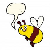 picture of bee cartoon  - cartoon bee - JPG