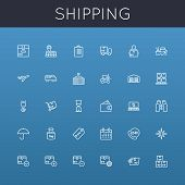 picture of ship  - Thirty shipping line icons - JPG
