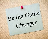 foto of recycled paper  - BE THE GAME CHANGER Message - JPG