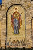 stock photo of trinity  - Mosaic icon of Virgin of the ensemble of the church of the Holy Trinity 13 - JPG