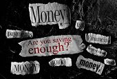 picture of retired  - Financial related news items and retirement savings concept text - JPG