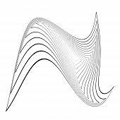 image of distort  - Design monochrome triangle movement illusion background - JPG