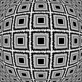 pic of quadrangles  - Design warped monochrome checked pattern - JPG