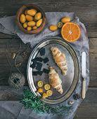 foto of kumquat  - Rustic breakfast set - JPG