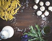 foto of mushroom  - Mushroom pasta ingredients - JPG