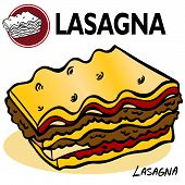 stock photo of italian food  - An image of a Lasagna Slice art object - JPG