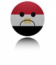 image of saddening  - Egypt  sad icon with reflection illustration - JPG