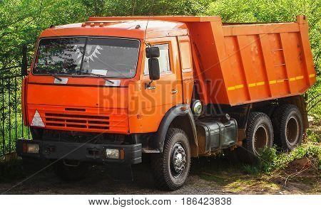 Truck lorry orange