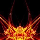 Fantasy plasma on dark background