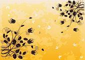 Grunge Floral fondo 2