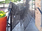 Restaurant Chair Stack 1