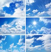 Sky daylight collection. Natural sky composition. Element of design.
