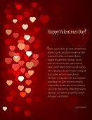 Vector Valentine's background with hearts and place for text.