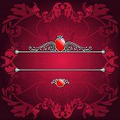 Decorative Purple Ornate Banner. Vector Illustration. No Meshes
