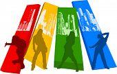 Rainbow Color Hip Hop Silhouette