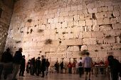 The Wailing Wall, Kotal(western wall)at Night , Jerusalem, Israel
