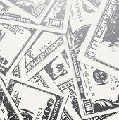 Grunge Textured Money Background
