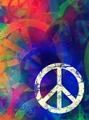 picture of peace-sign  - Computer designed highly detailed grunge abstract textured collage  - JPG