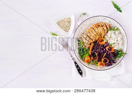 Healthy Salad Buddha Bowl Dish