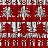 Christmas tree jumper pattern, vector illustration