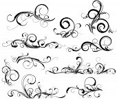 picture of flourish  - Collection of design elements - JPG