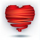 ribbon heart, vector eps8
