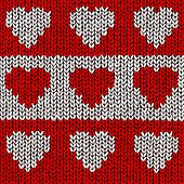 Jumper vector pattern with hearts