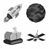 Isolated Object Of Universe And Travels  Icon. Set Of Universe And Cosmic  Stock Vector Illustration poster