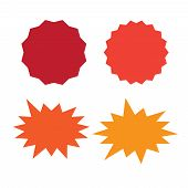 Set Of Vector Starburst, Sunburst Badges. Starburst Isolated Icons Set poster