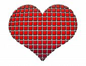 Heart In Red And Black