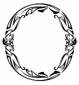 picture of art nouveau  - Art Nouveau style vintage font  - JPG