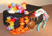 Suitcase Overloaded With Tropical Fun