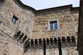 stock photo of cornerstone  - Perspective of the Castle of Bardi - JPG