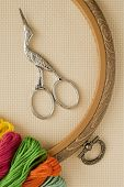 pic of aida  - Needlework materials and accessories for embroidery a cross - JPG