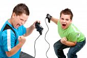 Euphorious Boys Playing With Consoles