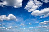 stock photo of oxygen  - blue sky with clouds closeup - JPG