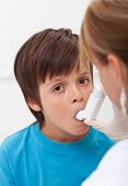 Emergency assistance for a child with respiratory problems - using an inhaler